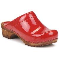 Buty Damskie Chodaki Sanita CLASSIC PATENT Czerwony