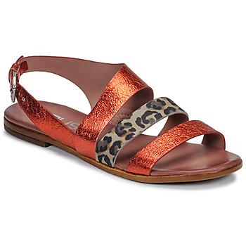 Buty Damskie Sandały Mjus CHAT BUCKLE Czerwony / Leopard