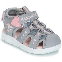 Buty Dziewczynka Sandały Kangaroos K-MINI Szary / Różowy