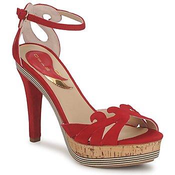 Buty Damskie Sandały Etro 3488 Czerwony