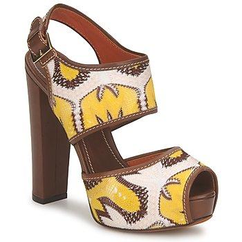Buty Damskie Sandały Missoni TM81 Brązowy / Beżowy / Żółty