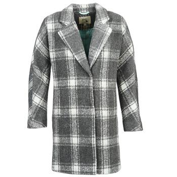 tekstylia Damskie Płaszcze Yumi EHIME Biały / Szary