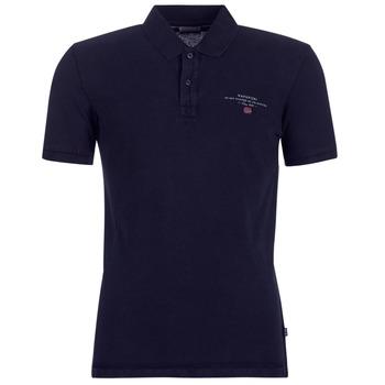 tekstylia Męskie Koszulki polo z krótkim rękawem Napapijri ELBAS 2 Marine
