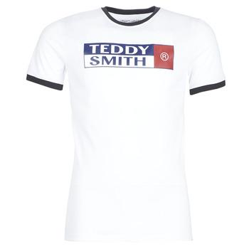 tekstylia Męskie T-shirty z krótkim rękawem Teddy Smith TOZO Biały