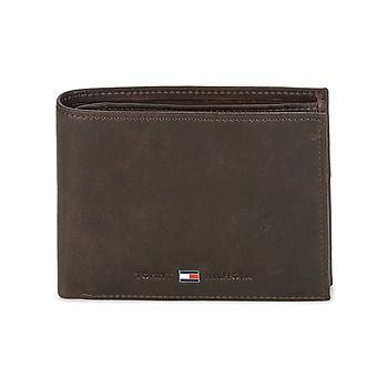 Torby Męskie Portfele Tommy Hilfiger JOHNSON CC AND COIN POCKET Brązowy