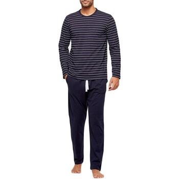 tekstylia Męskie Piżama / koszula nocna Impetus GO61024 039 Niebieski