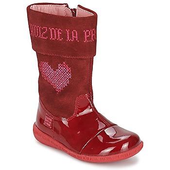 Buty Dziewczynka Kozaki Agatha Ruiz de la Prada DAFNE Czerwony