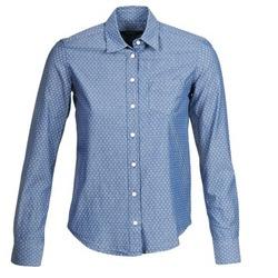 tekstylia Damskie Koszule Gant EXUNIDE Niebieski