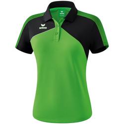 tekstylia Damskie Koszulki polo z krótkim rękawem Erima Polo femme  Premium One 2.0 vert/noir/blanc