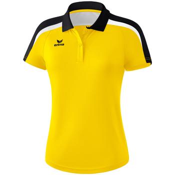 tekstylia Damskie Koszulki polo z krótkim rękawem Erima Polo femme  Liga 2.0 jaune/noir/blanc