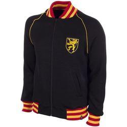 tekstylia Męskie Bluzy Copa Football Sweat zippé Belgique 1960's noir/jaune/rouge