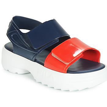 Buty Damskie Sandały Melissa SANDAL + FILA Marine / Czerwony / Biały