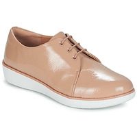 Buty Damskie Derby FitFlop DERBY CRINKLE PATENT Taupe