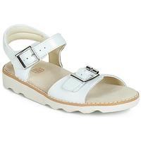 Buty Dziewczynka Sandały Clarks Crown Bloom K Biały