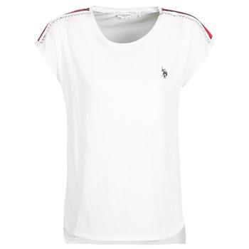 tekstylia Damskie T-shirty z krótkim rękawem U.S Polo Assn. JEWELL TEE SS Biały