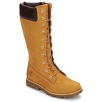 Buty Dziecko Kozaki Timberland GIRLS CLASSIC TALL LACE UP WITH SIDE ZIP COGNAC