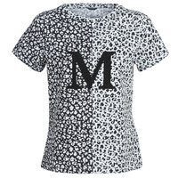 tekstylia Damskie T-shirty z krótkim rękawem Marciano RUNNING WILD Czarny / Biały