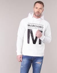 tekstylia Męskie Bluzy Marciano M LOGO Biały