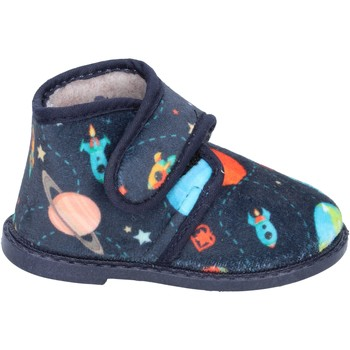 Buty Chłopiec Obuwie domowe Blaike pantofole blu tessuto BS50 Blu