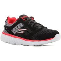 Buty Dziecko Bieganie / trail Skechers Buty dziecięce  Go Run 400 97681L-BGRD czarny, czerwony, szary