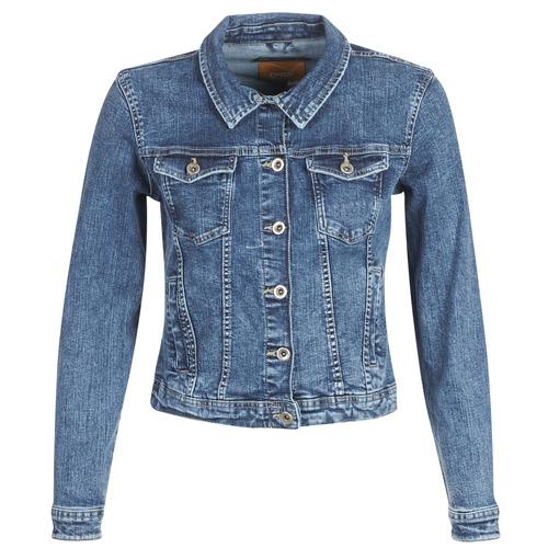 tekstylia Damskie Kurtki jeansowe Only ONLTIA Niebieski / Medium