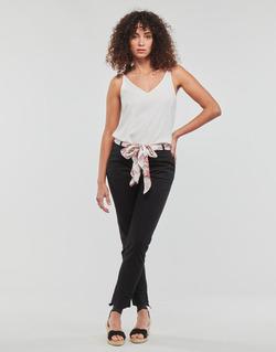 tekstylia Damskie Spodnie z pięcioma kieszeniami Betty London MIRABINE Czarny
