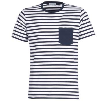 tekstylia Męskie T-shirty z krótkim rękawem Casual Attitude KARALE Marine / Biały
