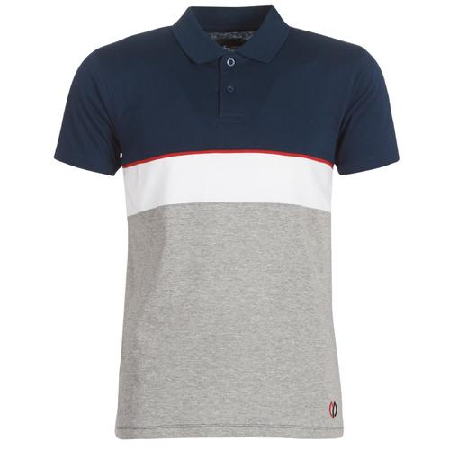 tekstylia Męskie Koszulki polo z krótkim rękawem Yurban KOULAZ Marine / Szary / Biały
