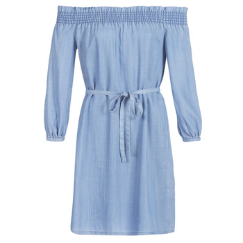 tekstylia Damskie Sukienki krótkie Only ONLSAMANTHA Niebieski / Clair