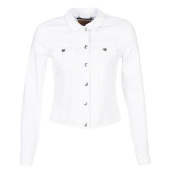 tekstylia Damskie Kurtki jeansowe Only ONLTIA Biały
