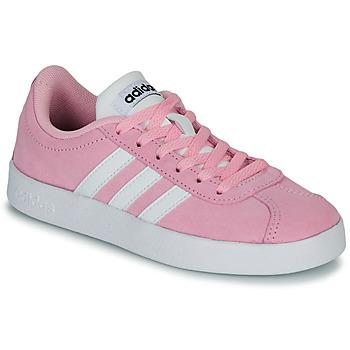 Buty Dziecko Trampki niskie adidas Originals VL COURT K ROSE Różowy