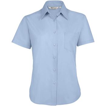tekstylia Damskie Koszule Sols ESCAPE POPELIN WOMEN Azul