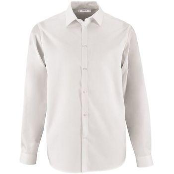 tekstylia Męskie Koszule z długim rękawem Sols BRODY WORKER MEN Blanco