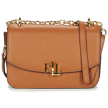Torby Damskie Torby na ramię Lauren Ralph Lauren ELMSWOOD MADISON CROSSBODY MEDIUM Cognac