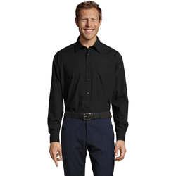 tekstylia Męskie Koszule z długim rękawem Sols BALTIMORE FASHION WORK Negro