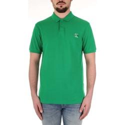 tekstylia Męskie Koszulki polo z krótkim rękawem Calvin Klein Jeans J30J312323 Zielony