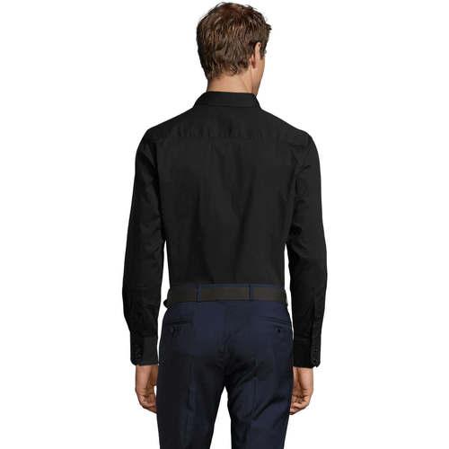 Sols Brighton Strech Negro - Bezpłatna Dostawa- Tekstylia Koszule Z Długim Rękawem Meskie 14986 Najniższa Cena