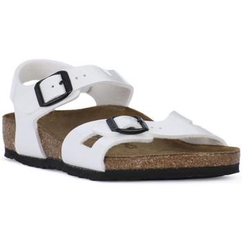 Buty Chłopiec Sandały Birkenstock RIO WHITE Bianco