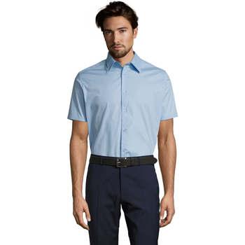 tekstylia Męskie Koszule z krótkim rękawem Sols BROADWAY STRECH MODERN Azul