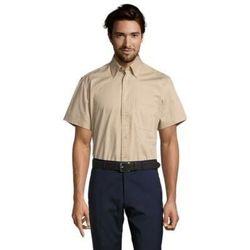 tekstylia Męskie Koszule z krótkim rękawem Sols BROOKLYN TWILL DAY Beige