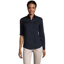 tekstylia Damskie Koszule Sols BURMA MODERN STYLE Azul