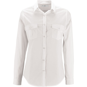 tekstylia Damskie Koszule Sols BURMA MODERN STYLE Blanco
