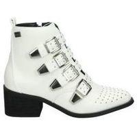 Buty Damskie Botki Coolway Botki  juno moda biały chłopiec blanc