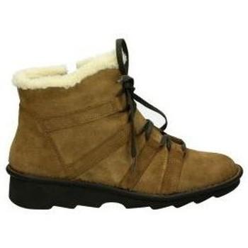 Buty Damskie Śniegowce Relaxshoe Botki  377-019 lady brązowy Marron