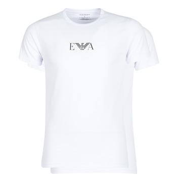 tekstylia Męskie T-shirty z krótkim rękawem Emporio Armani CC715-111267-04712 Biały