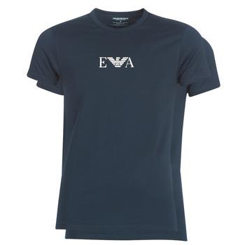 tekstylia Męskie T-shirty z krótkim rękawem Emporio Armani CC715-111267-27435 Marine