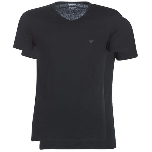 tekstylia Męskie T-shirty z krótkim rękawem Emporio Armani CC722-111648-07320 Czarny