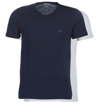 tekstylia Męskie T-shirty z krótkim rękawem Emporio Armani CC722-111648-15935 Marine / Szary