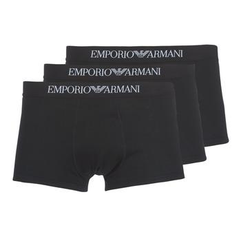 Bielizna  Męskie Bokserki Emporio Armani CC722-111610-21320 Czarny