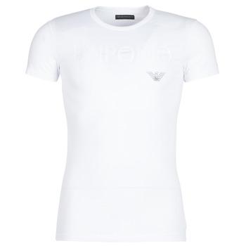 tekstylia Męskie T-shirty z krótkim rękawem Emporio Armani CC716-111035-00010 Biały